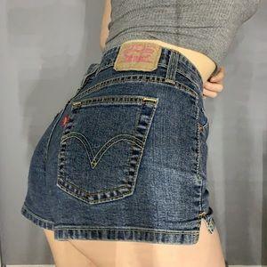 Vintage Levi's 518 superlow shorts
